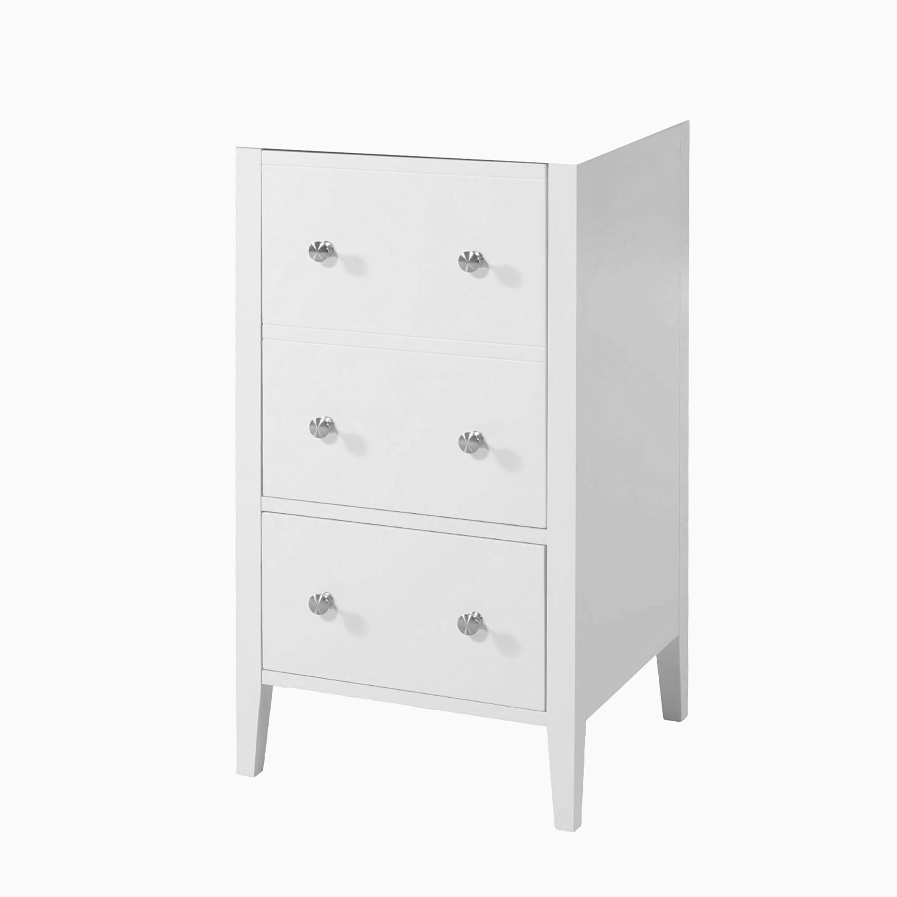 18 Addison Single Sink Freestanding Bathroom Vanity Base Only Without Sink And Top White Transitional Wood