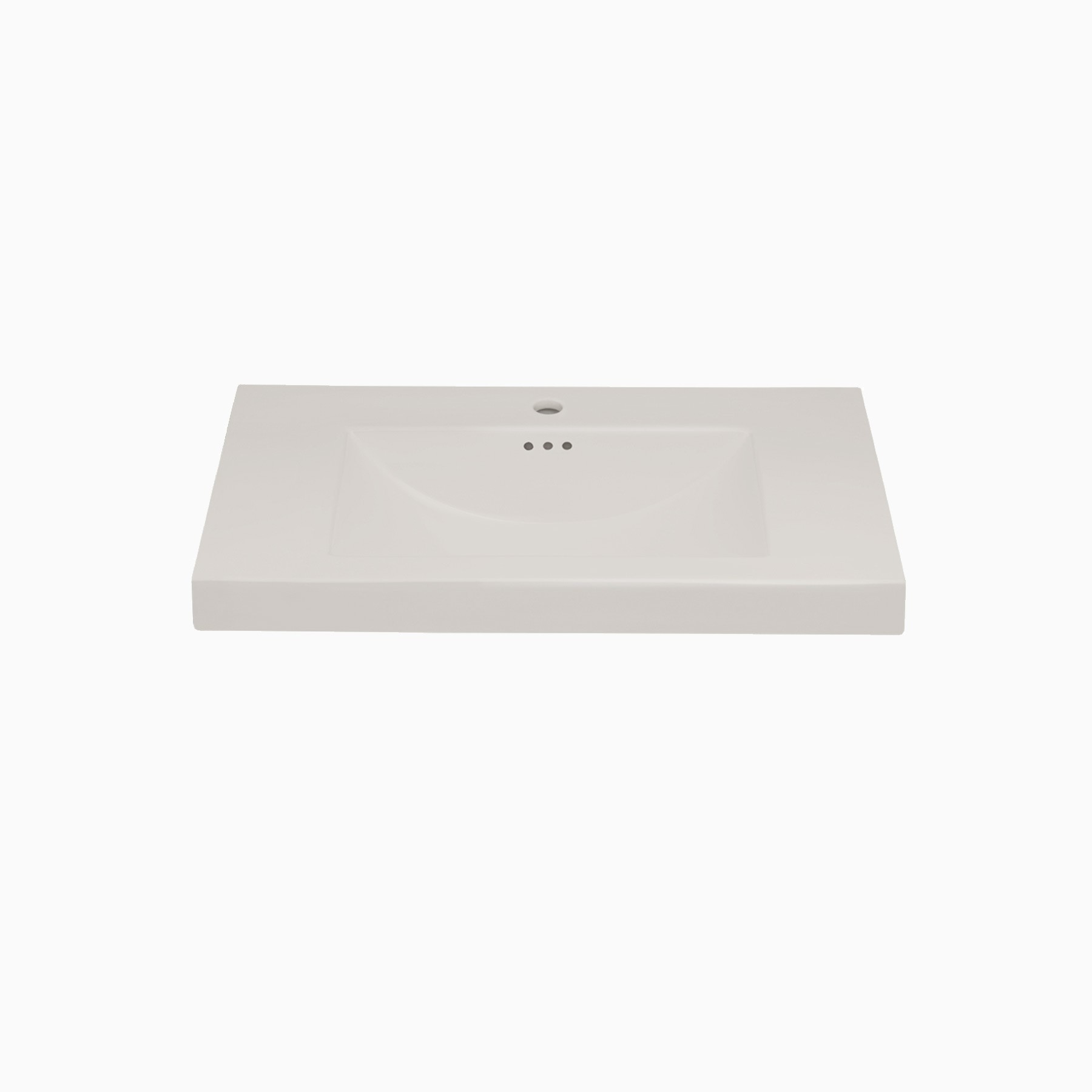 32 W X 20 D Leith Ceramic Single Vanity Top With Integrated Sink And Single Faucet Hole Biscuit