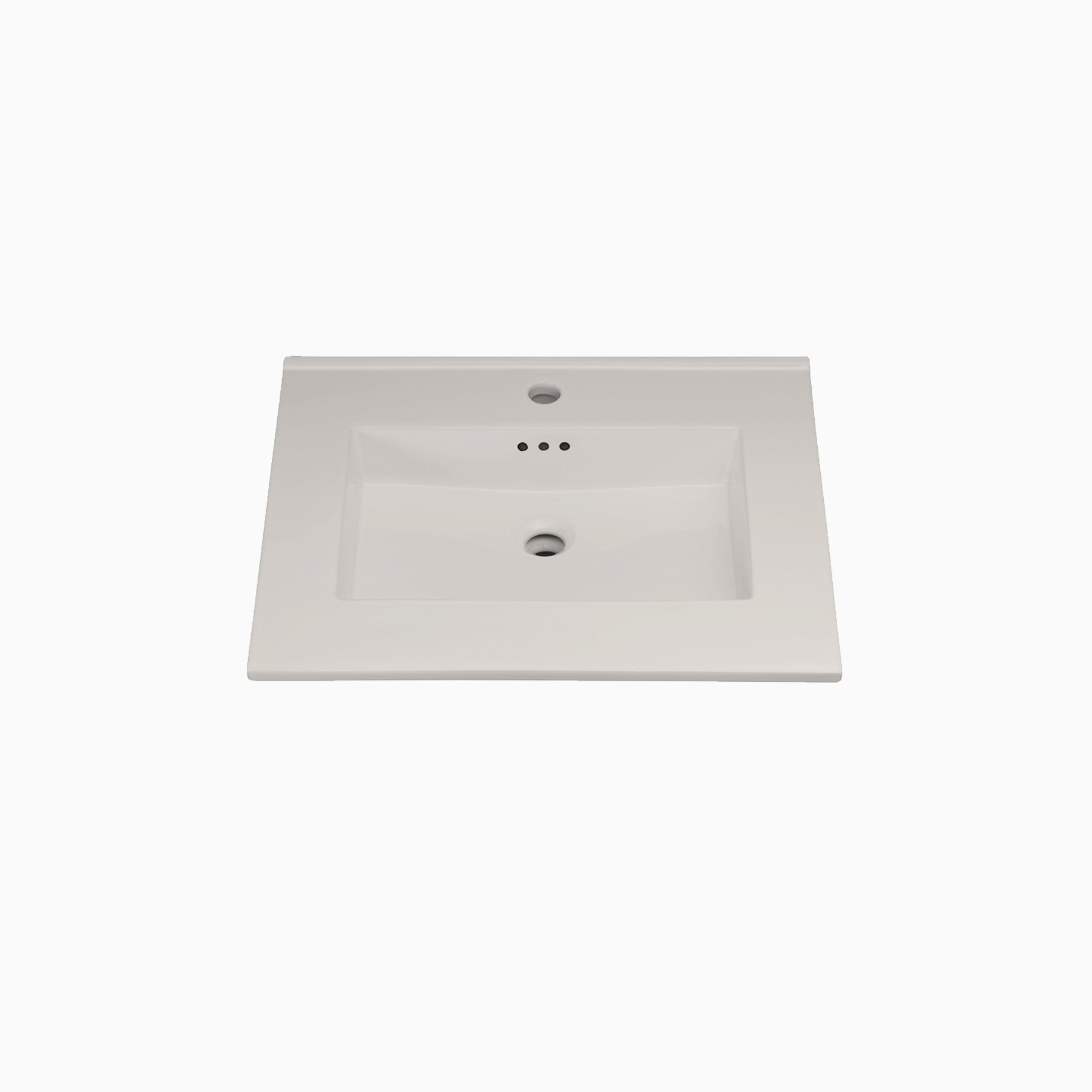24 W X 20 D Marbella Ceramic Single Vanity Top With Integrated Sink