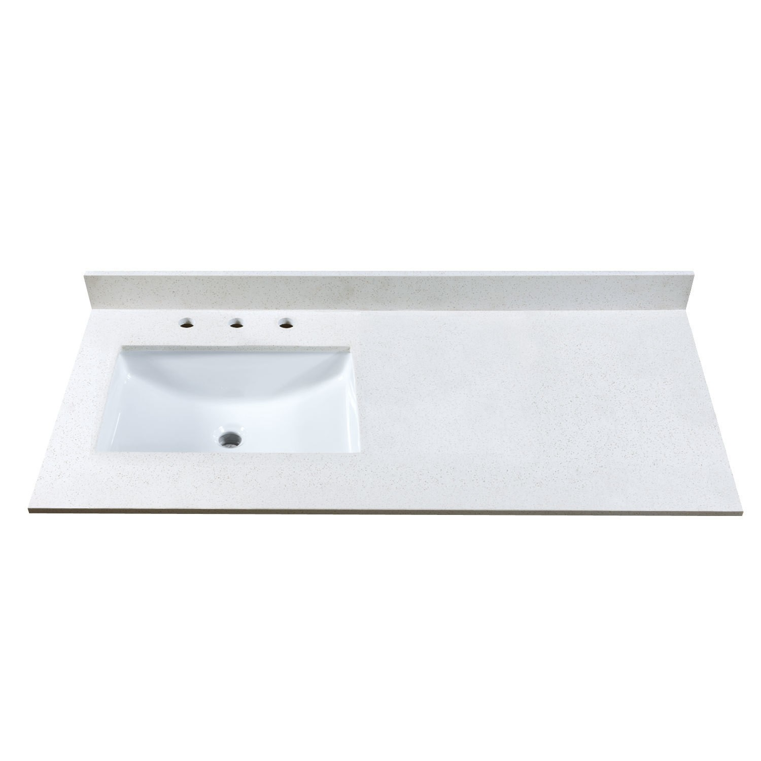 49 Inch Stone Vanity Top W Side Or Center Sink Cutout And 8 Inch Widespread Faucet Holes