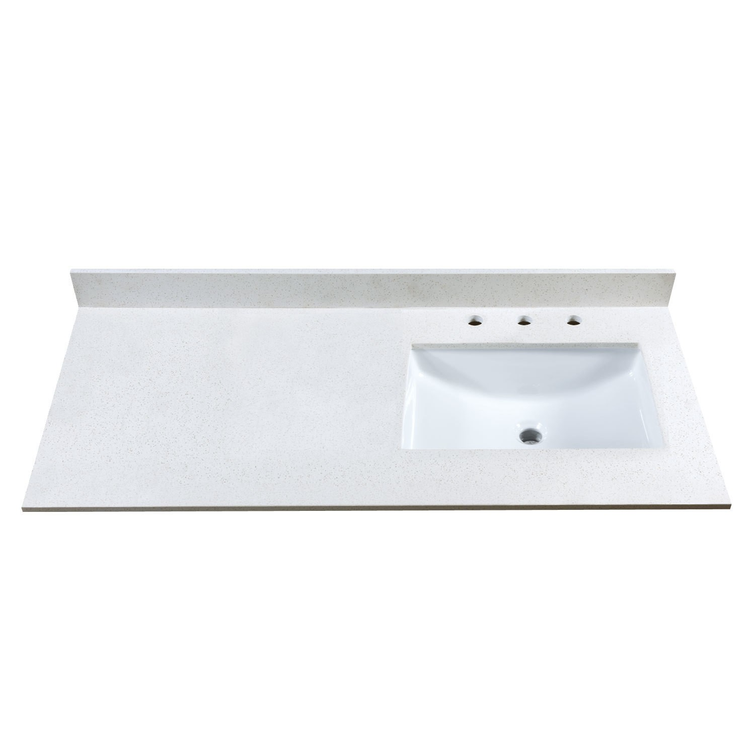 49 Inch Stone Vanity Top W Side Or