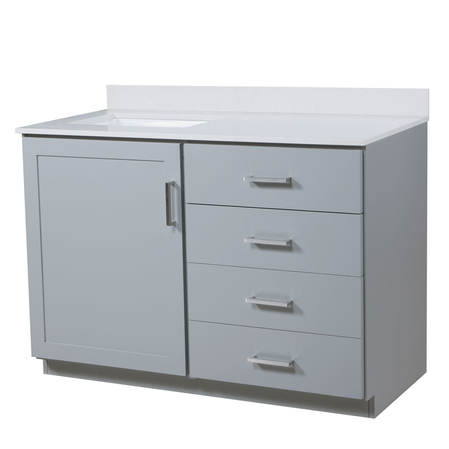 48 left offset bathroom vanity top