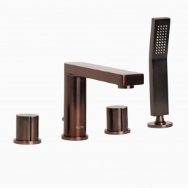Friedrich Deck Mount Bathtub Faucet with Hand Shower