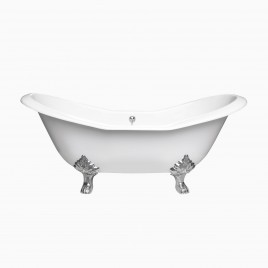 "73"" Dahlia Cast Iron Clawfoot Bathtub"