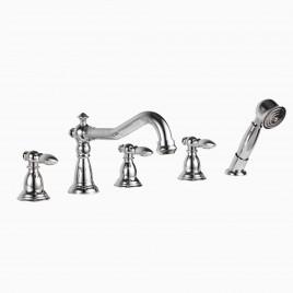 Luca Deck Mount Bathtub Faucet with Hand Shower