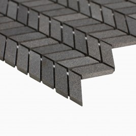 Holden 10-Pack Chevron Mosaic Wall and Floor Tile, Young Lava Stone