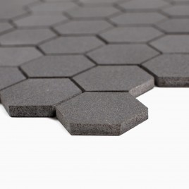 Cooper 10-Pack Hexagon Mosaic Wall and Floor Tile, Young Lava Stone