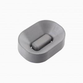 Atticus Oval Soap Dish, Concrete