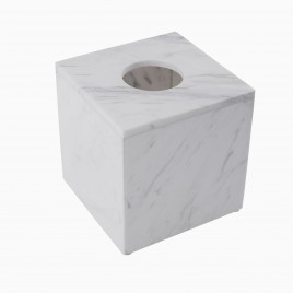 Brax Tissue Box, White Marble