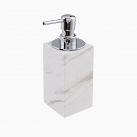 Brax Soap Dispenser with Pump, White Marble