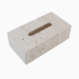 Hudson Tissue Box, Golden Cream Marble