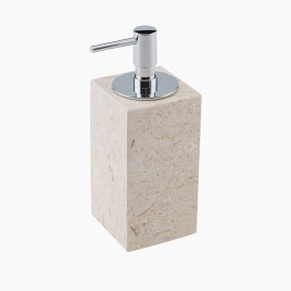 Hudson Soap Dispenser with Pump, Golden Cream Marble