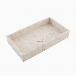 Hudson Rectangle Display Tray, Golden Cream Marble