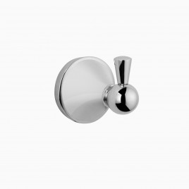 Charlotte Robe Hook, Polished Chrome