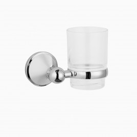 Charlotte Wall Mount Tumbler, Polished Chrome