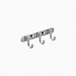 Gilbert Brass 3 Hook Coat Rack