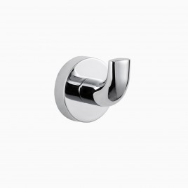 Hayes Valley Single Robe Hook, Polished Chrome