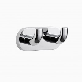 Hayes Valley Double Robe Hook, Polished Chrome