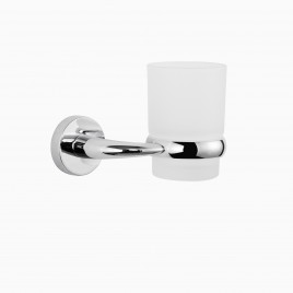 Hayes Valley Wall Mounted Bathroom Tumbler Holder, Polished Chrome