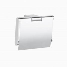 Mission Wall Mounted Toilet Paper Roll Holder with Cover, Polished Chrome