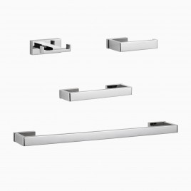 "Russian Hill 4-Piece Bathroom Hardware Set with 24"" Towel Bar"
