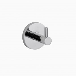 Xander Robe Hook, Polished Chrome