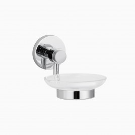 Xander Wall Mount Soap Dish, Polished Chrome