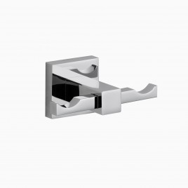 Zane Double Robe Hook, Polished Chrome
