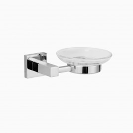 Zane Wall Mount Soap Dish, Polished Chrome