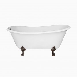 "67"" Doris Cast Iron Clawfoot Bathtub"