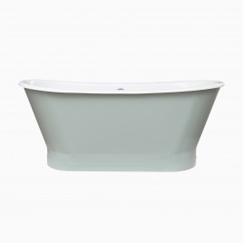 "67"" Gloria Cast Iron Freestanding Tub, Sage Green"