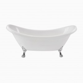 "71"" Mona Double Slipper Clawfoot Bathtub"