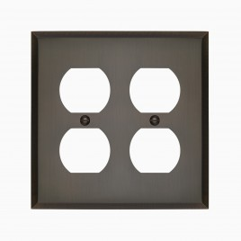 Graham Solid Brass Double Duplex Outlet Cover