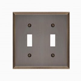 Graham Solid Brass Double Light Switch Cover