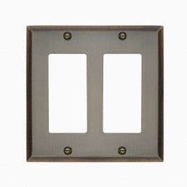 Graham Solid Brass Double Rocker Switch Cover