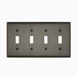 Graham Solid BrassQuad Light Switch Cover