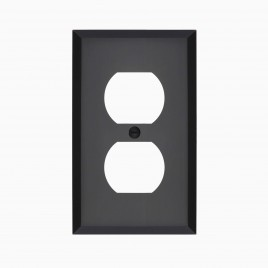 Graham Solid Brass Single Duplex Outlet Cover