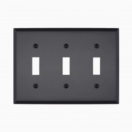 Graham Solid Triple Light Switch Cover