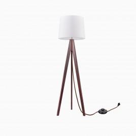 Synnove Wood Tripod Floor Lamp