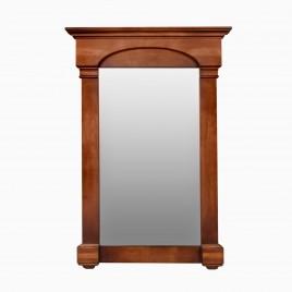 "Betty 24"" W x 36"" H Wood Framed Rectangle Wall Mirror, Cherry Americana"