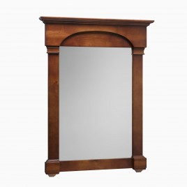 "Betty 30"" W x 40"" H Wood Framed Rectangle Wall Mirror, Cherry Americana"