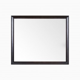 "Imogen 30"" W x 36"" H Mirror in Chocolate Birch"