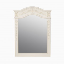 "Garonne 24"" W x 34"" H Wood Framed Rectangle Wall Mirror, Antique White"