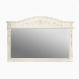 "Garonne 59"" W x 40"" H Wood Framed Rectangle Wall Mirror, Antique White"
