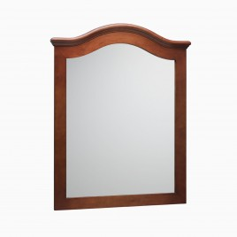 "Nancy 30"" W x 38"" H Wood Framed Rectangle Wall Mirror, Cherry Americana"