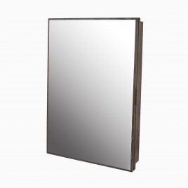 """Peter 23"""" W x 33"""" H Wood Framed Medicine Cabinet with Beveled Mirror and Shelf"""
