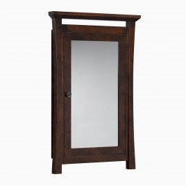 """Sachi 25"""" W x 39"""" H Wood Framed Medicine Cabinet with Mirror and Shelf"""