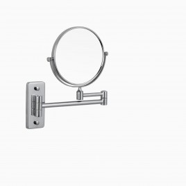 Windor Wall Mount Make-up Mirror with Adjustable Arm, Polished Chrome