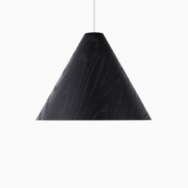 Carnaby Wood Pendant Lamp, Black