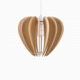 Hughes Medium Wood Pendant Lamp